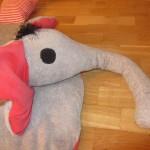 Krabbeldecke Elefant Kopf 1